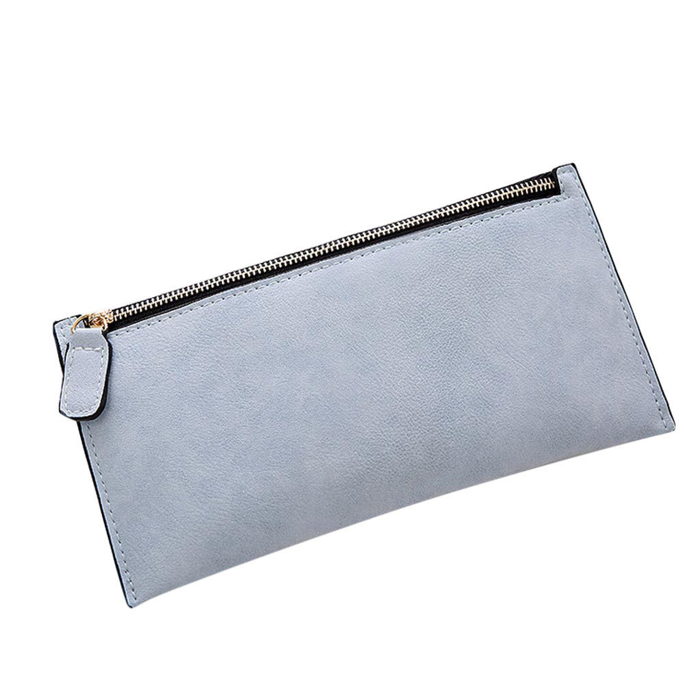 Fashion Women Purse Ladies Leather Zipper Wallet Clutch Card Holder Purse Female Long Handbag Money Bag Vintage High Quality