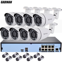 GADINAN H 265 Security Surveillance Kits 8CH 4K 48V PoE NVR 4MP 2 8 12mm Zoom