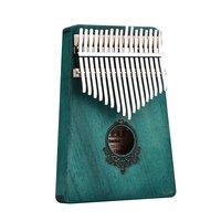 17 Key Kalimba African solid Mahogany Thumb Finger Piano Sanza Solid Wood Kalimba Mbira Thumb Wood Musical Instrument wholesale