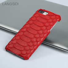 Genuine Leather Python skin phone case for iphone x xS XR 5 6 7 8 8plus Soft touch Luxury protective For 11 pro max