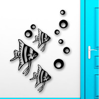 Wall Stickers Vinyl Decal Fish For Bathroom Ocean Marine Sea Nursery Home Decor Wall Sticker For Kids Room 56x88cm many colors