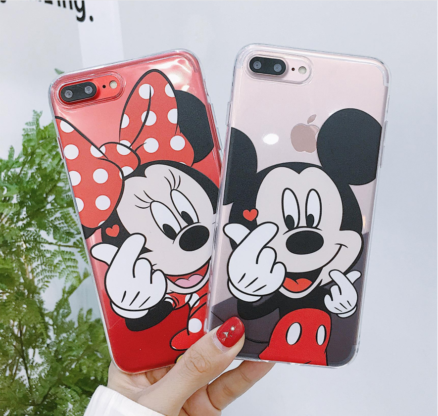 Disneys cartoon stich Minnie Silikon Telefon Fall Für <font><b>iPhone</b></font> 11 Pro Max 2019 6 6S <font><b>7</b></font> 8 <font><b>Plus</b></font> XR XS MAX SE 5 5S X frau Weiche Abdeckung image