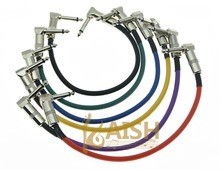 "KAISH Kaish 6-Pack Right Angle 30cm/12"" Mono Guitar Effect Pedal Cable Effects Patch Cord"