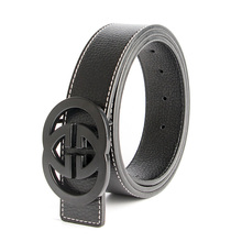 2017 New Luxury Brand Double G Designer Belts Men High Quality Male Women Genuine Real Leather GG Buckle Strap for Jeans(China (Mainland))