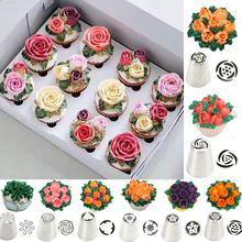 Flower Russian For Nozzles Cream Tulips Cake Decorating Pastry Tip Sets Stainless Steel Rose Icing Piping Tips Baking Tools