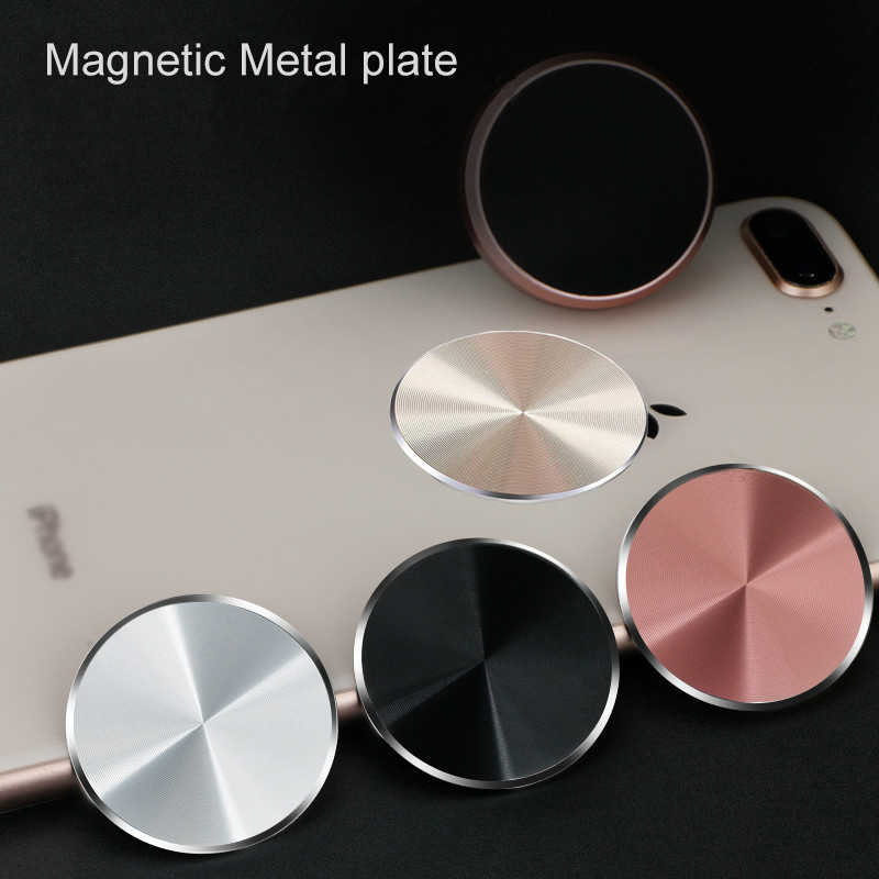 Metal Plate For Magnetic Car Phone Holder for Xiaomi Huawei Iron Sheet Sticky Magnet Disk Strong Adsorption Mobile Phone Holder