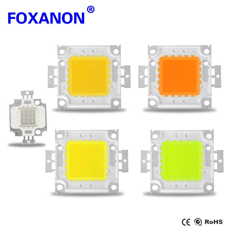 Foxanon 1W 3W LED Spotlight Bulb 10W 20W 30W 50W 100W High Power integrated LEDs lamp Chip COB SMD Diodes For Flood light