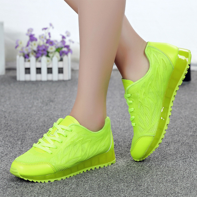 2017 Fashion Women Cansual Shoes Flats Trainers Breathable Sport Woman Shoes Outdoor Walking Women Flats Zapatillas Mujer Shoes