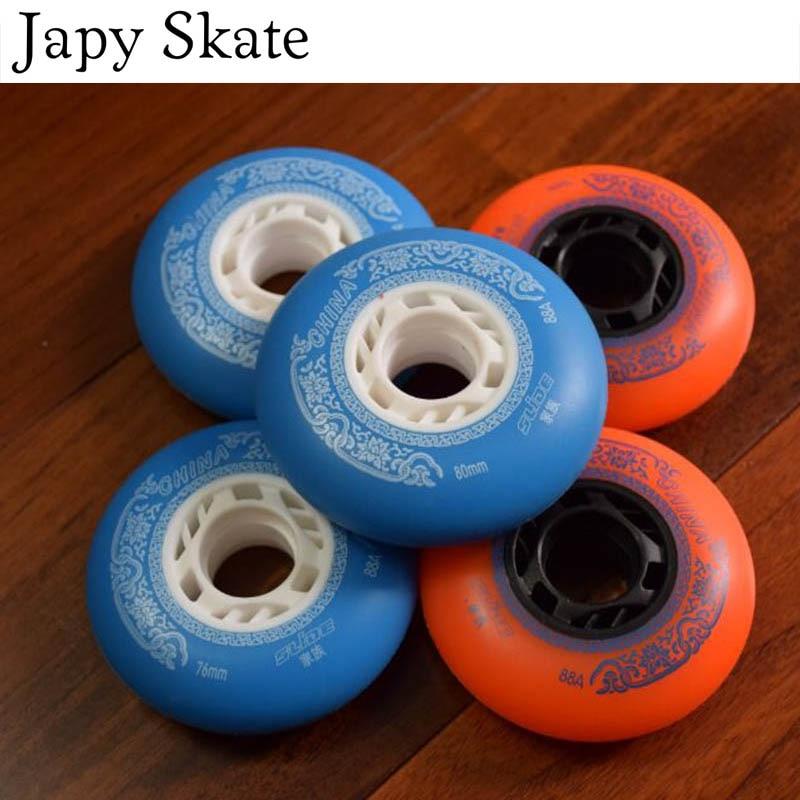 Prix pour Jus japy Skate 88A Rouleau De Patinage Roues Professionnel Slalom Coulissante Inline Skate Chaussures Roue De SEBA Powerslide Glisser Patine 72 76 80