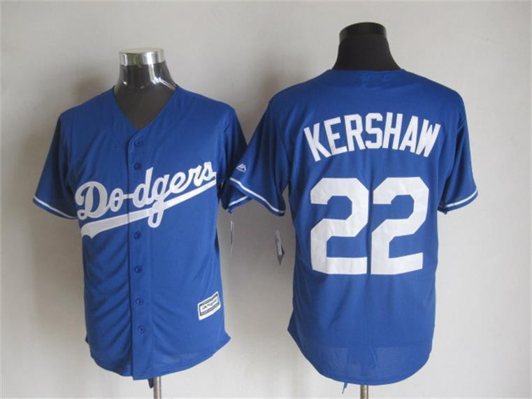 2015 Cheap Los Angeles baseball jerseys 22 Clayton Kershaw Blue white stitched jersey - Sale, Top Shop store