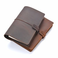 Handmade Vintage Leather Diary Notebook A5 A6 A7 Rind Binder Sketchbook For Travel Journal Business Office