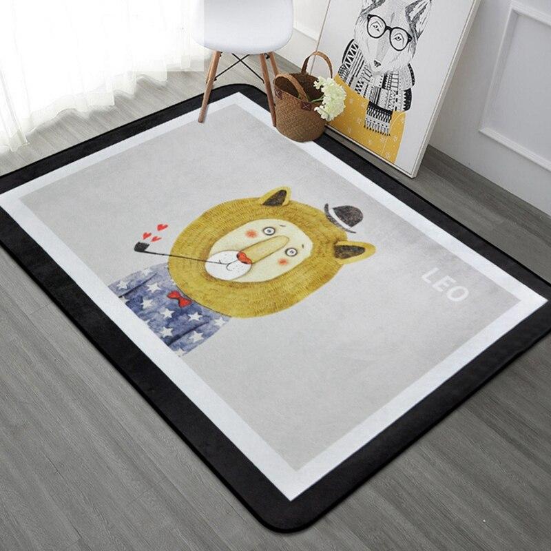Haute qualité animaux de bande dessinée tapis salon paillasson mignon LEO renard ours chat tapis porte tapis de sol pour chambre tapis enfants chambre