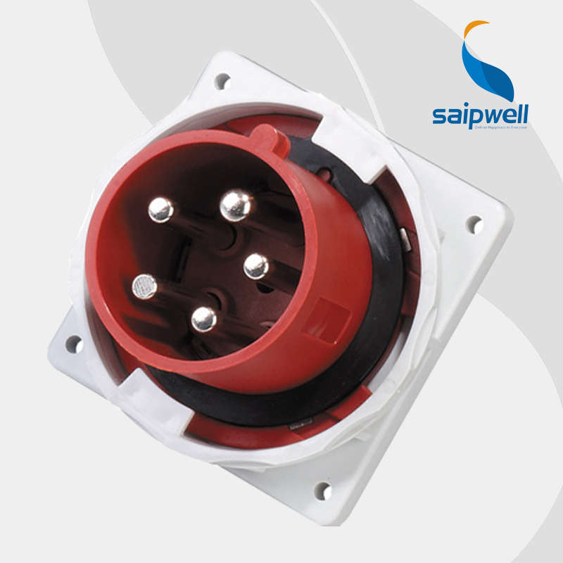 63A 400V 5P (3P+N+E) industrial socket connector outlets male type wall mounted Splash Proof IP67 EN / IEC 60309-2 type SP3658 63a 5pin novel industrial hide direct socket connector sfn 3352 concealed installation socket 3p n e cable connector ip67