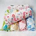 Cobertor do bebê de musselina bebê swaddle Cobertor Do Bebê Dos Desenhos Animados Impresso Algodão Macio Respirável Para Recém-nascidos