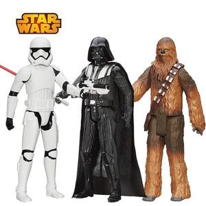 Image 1 - 30 см Звездные войны, флакопер Chewbacca, штурмовик, Дарт Вейдер, кило Рен Финн, фигурка, Подарочная игрушка для детей, коллекционная кукла