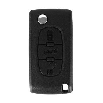 Chiave Telecomando  Peugeot 307 407 308 607 433MHz Electronic ID46 Chip VA2 Blade CE0536  3 Tasti 1