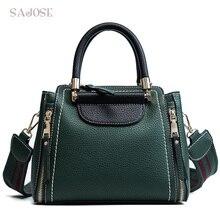 Women Fashion Handbag Female Vintage Leather High Quality Women's Shoulder Messenger Bags Lady Green Tote Bag DropShippin