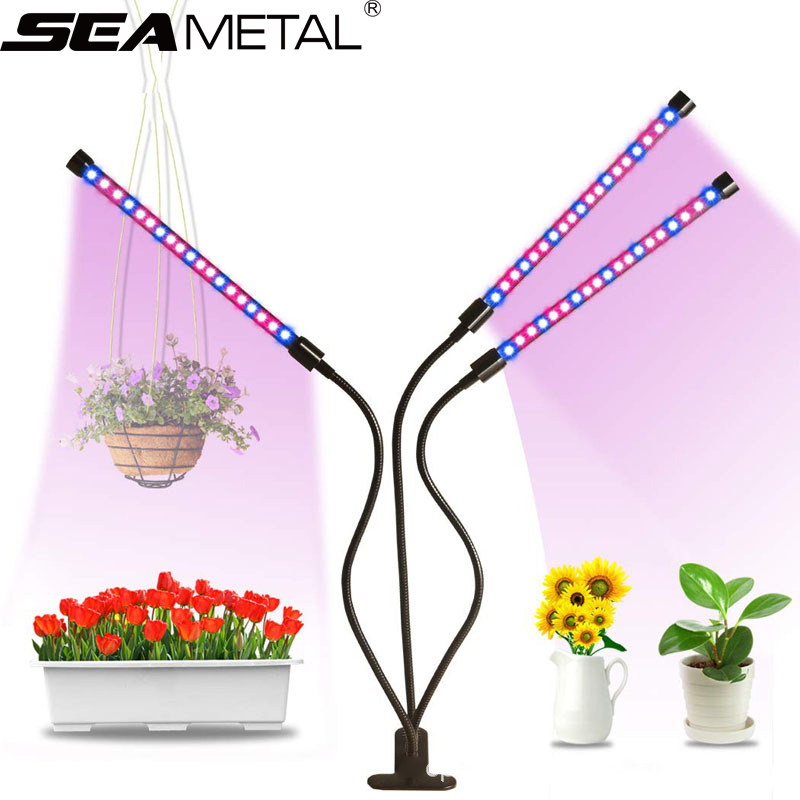 Fitolamp Grow Light LED Lamp For Plants 9/18/27W Fito LED Full Spectrum Indoor Plant Lamp Grow Tent Growing Lamp With Controller