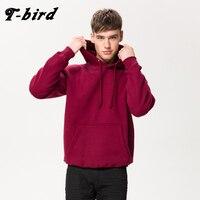 T Bird 2017 Hoodies Men Hip Hop Solid Color Pullover Brand Men S Hoodie Cotton Sweatshirt