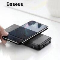 Baseus 10000mAh Wireless Charger Power Bank For iPhone Samsung Huawei Xiaomi Powerbank Dual USB Charging External Battery Pack Power Bank