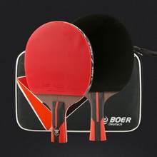 b0ef281a8 BOER 1 pc 6 Estrelas Raquete De Tênis De Mesa Profissional 7.6 Carbono King  Ping Pong Bat com Saco De Armazenamento