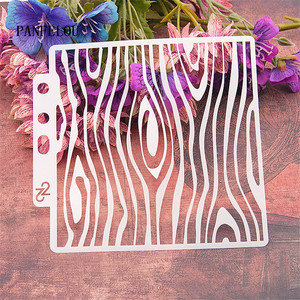 Wood grain wave scrapbook stencils spray plastic mold shield DIY cake hollow Embellishment printing lace ruler valentine