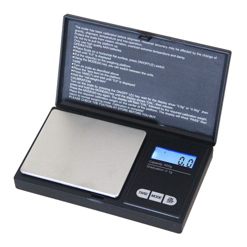 500g x 0.1g Mini Precision Digital Scales for Gold Bijoux Silver Diamond Jewelry Pocket Kitchen Weight Food Electronic Scales