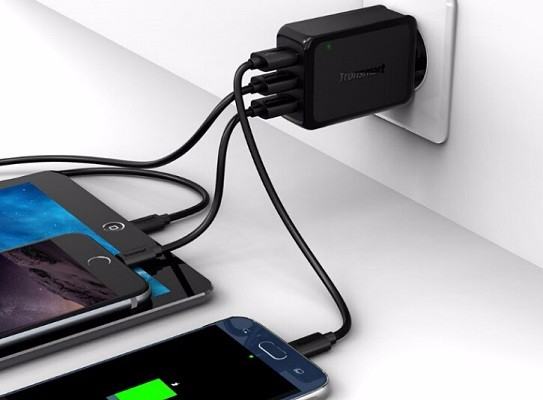 Tronsmart W3PTA USB Charging Qualcomm Certified Quick Charge 3.0 QC3.0 USB Smart Charger 7