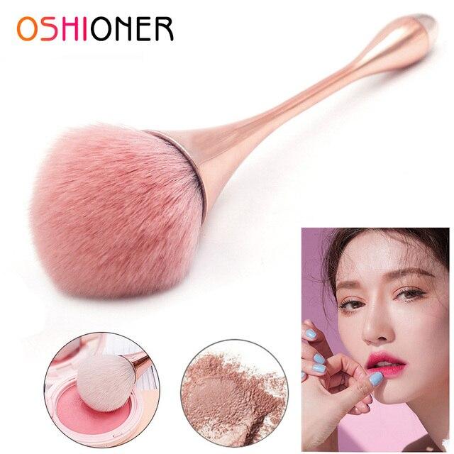 OSHIONER 1 PC mango brocha de maquillaje brochas de base cosmética mango de plástico rubor brocha sombra de ojos polvo suelto herramienta de maquillaje