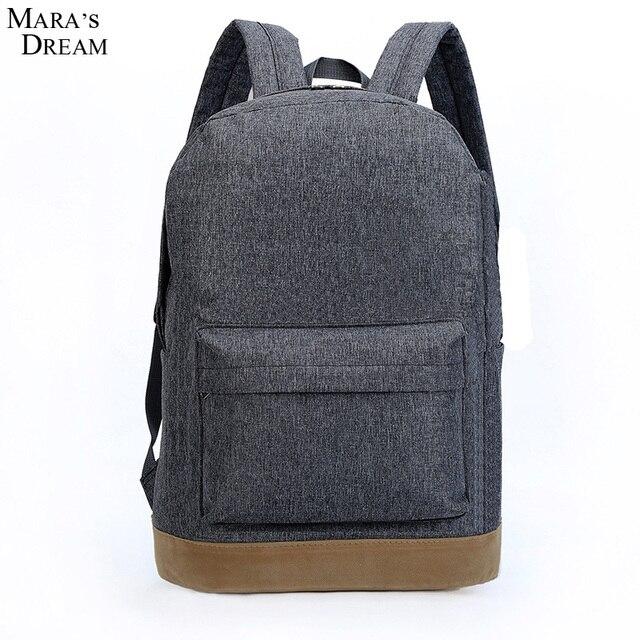 Mara's Dream 2016 Hot sale Men Male Canvas College School Student Backpack Casual Rucksacks Travel Bag