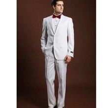The latest style hot sale wedding occasions the groom suit pure white men suit multi-color optional men's formal suit