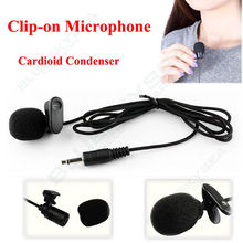 Free Shipping! New Lavalier Cardioid Condenser Microphone+Tie Clip on Portable Megphone Speaker