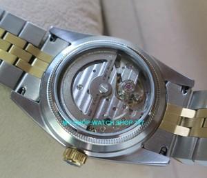 Image 2 - 2017 新ファッションサファイアクリスタル 36 ミリメートルパーニス日本 21 jeweles 自動自己風運動発光メンズ腕時計 5Bar 9A