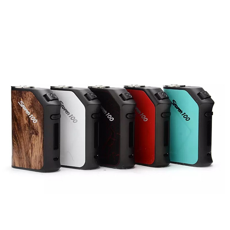 Vapor Storm 100W Box Mod 3200mah Vape Electronic Hookah 510 Thread Support RDA RTA RDTA Electronic Cigarette kit tank mod 100% original geekvape gbox mod 200w gbox squonker box mod vape fit 8ml squonk bottle support radar rda tank