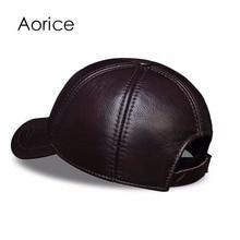Genuine Leather Embossed Mens Baseball Cap
