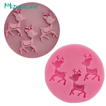 Christmas Deer Fondant Cake Mould Chocolate DIY Baking Tools Liquid Silicone Kitchen MJ-00687