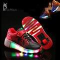Светящиеся Кроссовки zapatillas luces Дети Роликовых Коньках Обувь Кроссовки Колеса загораются Обувь дети светодиодные обувь zapatillas hombre luces