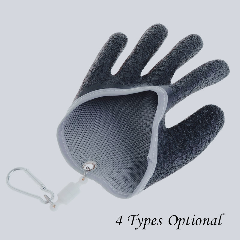 Fishing Gloves Non Slip Latex Glove With Magnet Release Fish Grab Anti Skid Capture Safety Portable Outdoor Fishing Professional