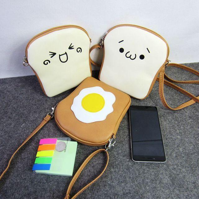 Cute Phone Shoulder Bags For Litter S Women Kawaii Toast Egg Messenger Fashion Coin Purses