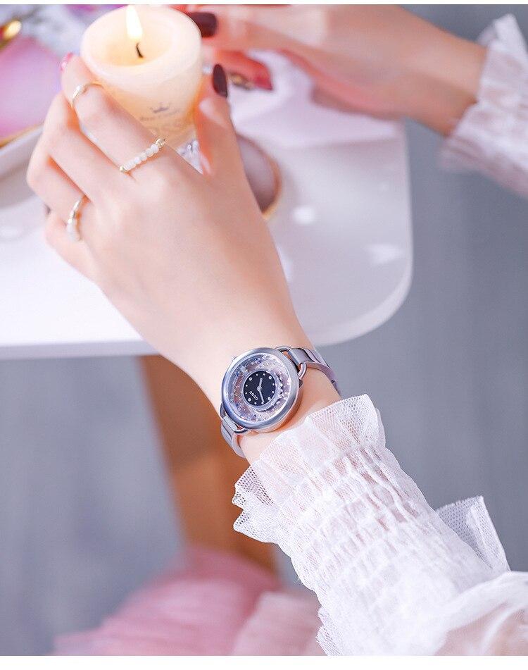 Das Mulheres do relógio de Quartzo reloj mujer À Prova D' Água
