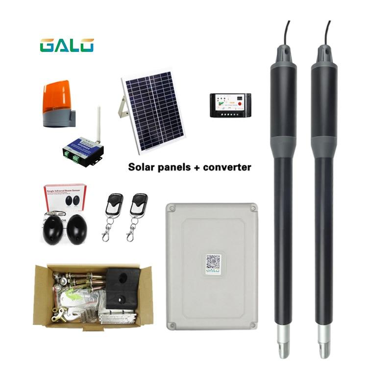 Electric door operator DC24V two swing door opener solar system gate motor   - title=