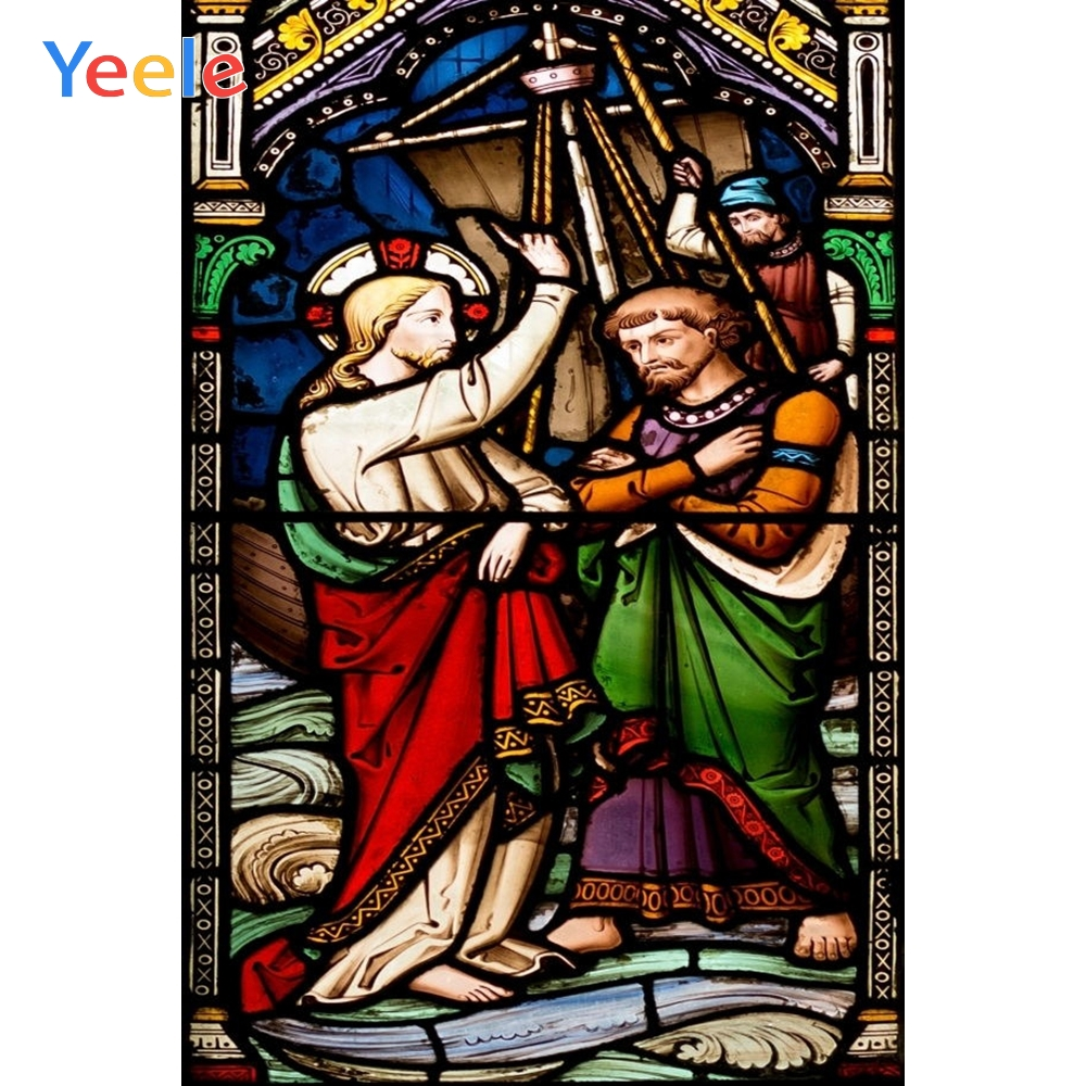 Yeele Christian Mural God Painting Scene Photographic Backgrounds Professional Camera Photography Backdrops For The Photo Studio in Background from Consumer Electronics