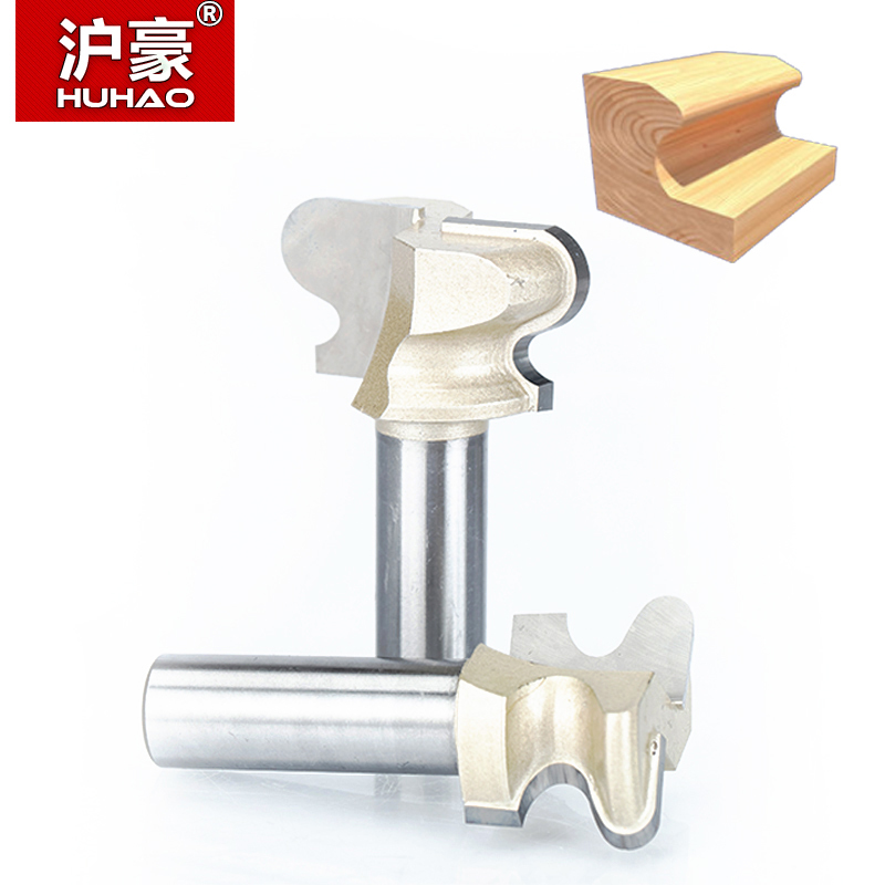 HUHAO 1pc 1/2 Shank Router Bits For Wood Double Finger Bit Woodworking Tools Two Flute Endmill Milling Cutter Wood Cutting huhao 1pcs 1 2 1 4 shank classical router bits for wood tungsten carbide woodworking endmill tools classical mounlding bit