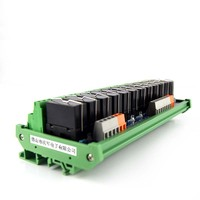 12 way relay dual group module 24V multi channel solid state relay PLC output amplifier board