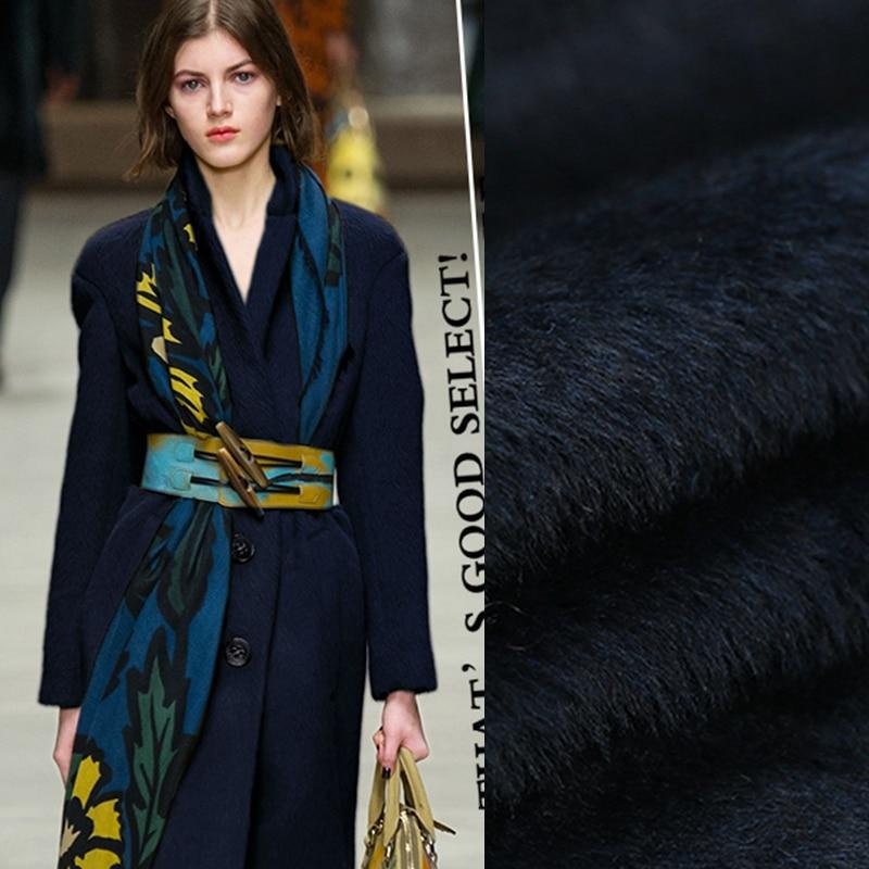 Limited hot sale fashion Aquamarine alpaca chile origin Al barca wool fabric for coat soft tissu au meter bright cloth DIY