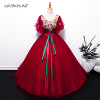 Quinceanera Dresses 2018 For 15 Appliques Wine Red Embroidery 16 Ball Gowns Party Dress Performance Dress Custom Plus sizes
