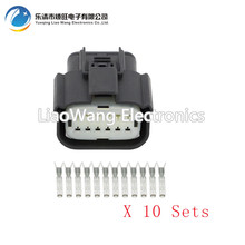 цена на 10 sets  12 Pin headlamp plug harness connector with terminal DJ7121Y-1-21 12P car connector