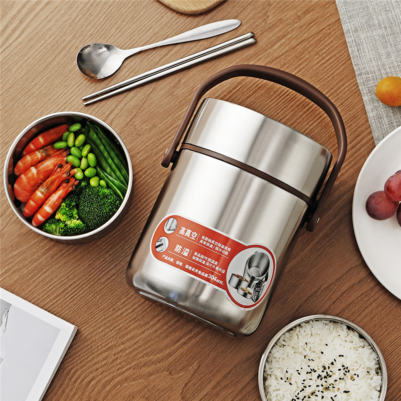 ONEISALL 2L Thermos Food Jar Container Thermal Insulation Lunch Box Stainless Steel Vacuum Flask Thermo Bottle Leak Proof