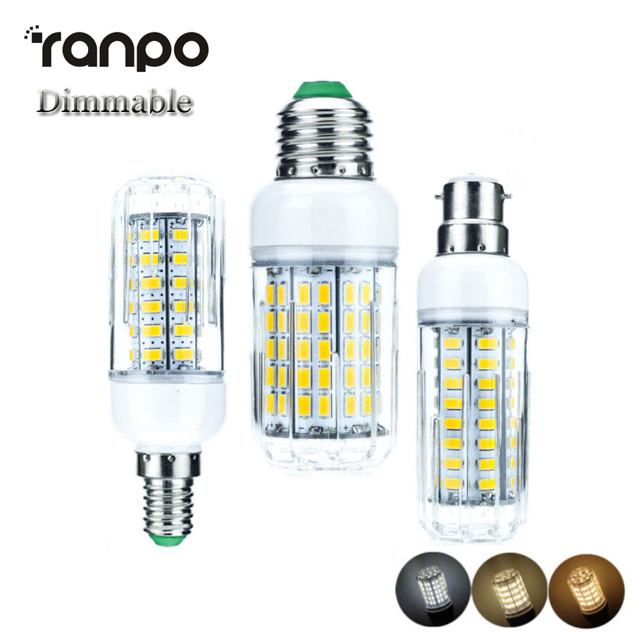 dimmable lampada 85 265v led corn bulb e27 e14 b22 12w 18w. Black Bedroom Furniture Sets. Home Design Ideas