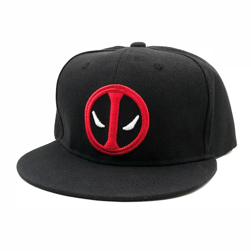 Fashion Comic Marvel Deadpool Hat Snapback Bone Aba Reta Costumes ... 6d3ddc636c7